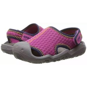 Girls swiftwater Crocs NWT